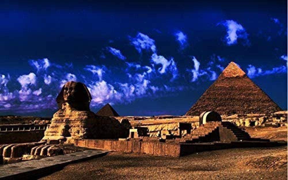 CHDBB Blue Sky Egypt Pyramid Mini Micro Jigsaw Puzzle 1000 Piezas para Adultos Juguete de decoración Familiar Juego Divertido Juguete Educativo de Madera para Adultos y niños 38x26 cm