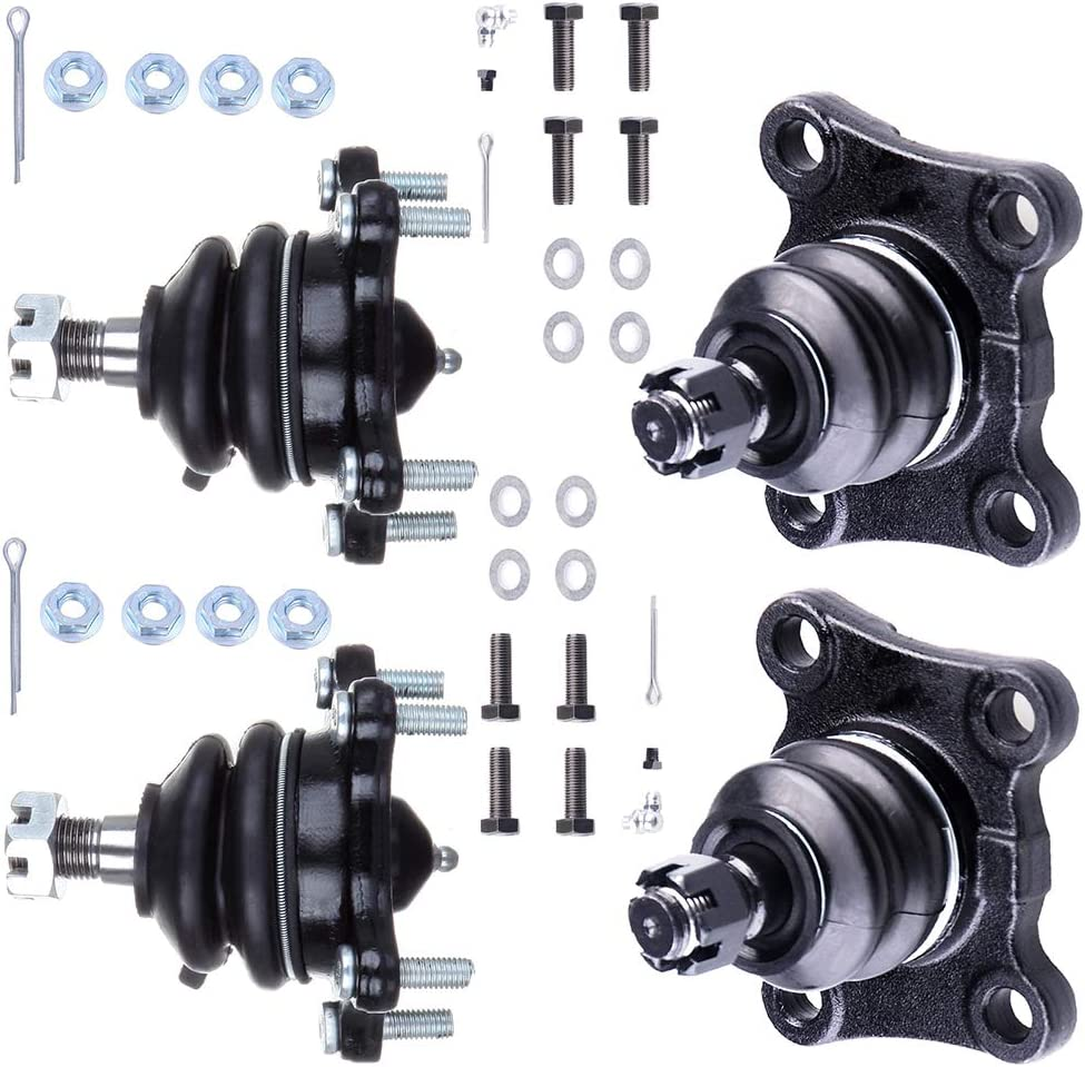 CTCAUTO Suspension Kits Lower Ball Joints Upper Ball Joints 4pcs Compatible fit 1986-1989 for TOYOTA 4Runner 1986-1989 for TOYOTA Pickup