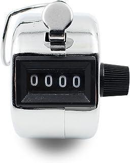 Ulable à main Tally Clicker Compteur 4chiffres Nombre Clicker pour sports/école/genoux/CAS, 5pcs Couleur argent