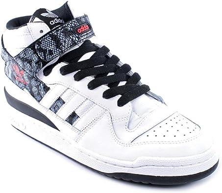 adidas Forum Mid - Zapatillas de Cuero para Hombre Blanco Runwht/Runwht/Black1 45: Amazon.es: Zapatos y complementos