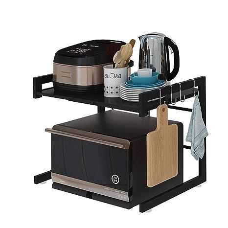 Organizador cocina Retráctil Cocina Microondas estante de pintura ...