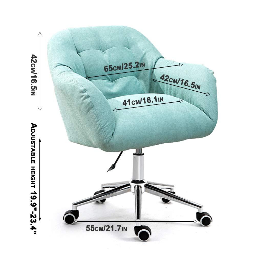 Kontorsstol ergonomisk justerbar svängbar stol mitt bak korsryggen stöd med armstöd och svampkudde Grått