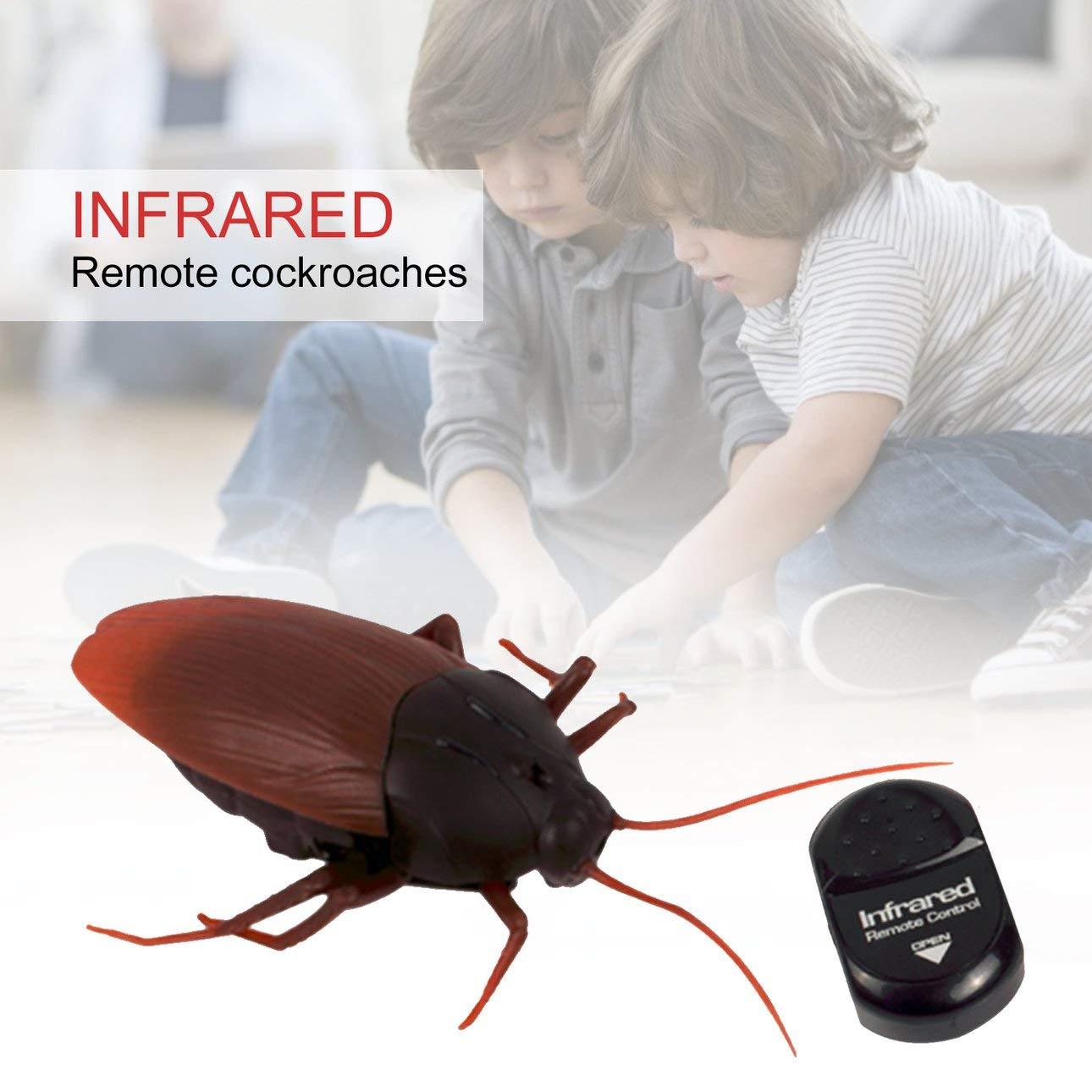 Banbie8409 Alimentato a Batteria di plastica Divertente Simulazione Spaventosi Creepy Scarafaggio infrarossi Giocattoli Telecomando Spaventosi Giocattoli per Bambini