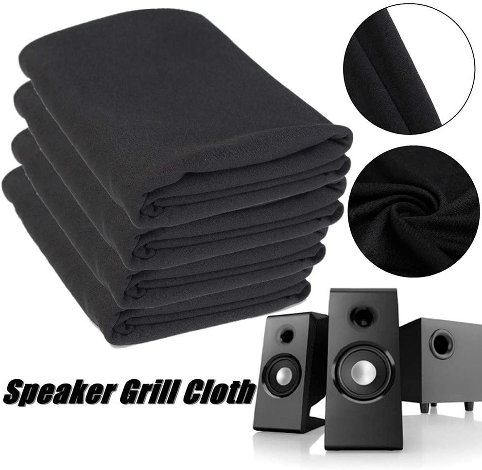 one Size, White Speaker Dustproof Cloth Grill Mesh Fabric Black Stereo Speaker