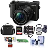 Panasonic Lumix DC-GX9 20.3MP Mirrorless Camera with 12-60mm F3.5-5.6 Lens, Black - Bundle with Camera Bag, 32GB SDHC U3 Card