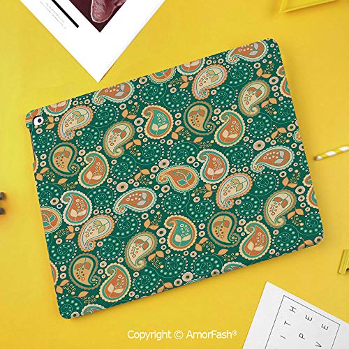 Slim Case for Samsung Galaxy Tab S4 T830 T835 SM-T837 10.5 Protective,Ethnic,Ethnic Paisley Leaves with Arabesque Folkloric Features Floral Pattern,Apricot Green (Samsung Laser Printer Ml 1740 Driver Windows 7)