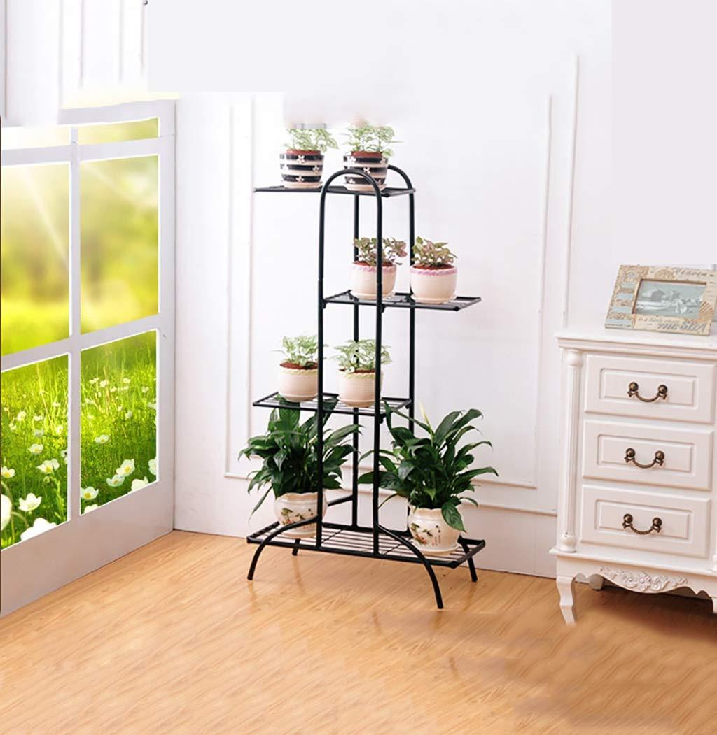 Accessori Cremagliera del vaso di fiore a terra a più strati del supporto del fiore del ferro, scaffale multifunzionale del fiore di legno di imitazione (dimensione  54.5  23  99.5cm) ( colore   C )