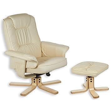 IDIMEX Fauteuil de relaxation CHARLY avec repose-pieds pouf, siège pivotant  et dossier inclinable 3b9072fe3e18