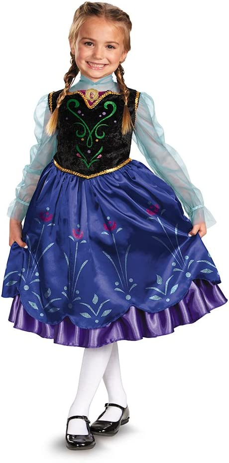 Amazon.com: Disguise Disney Frozen Anna Deluxe del disfraz ...