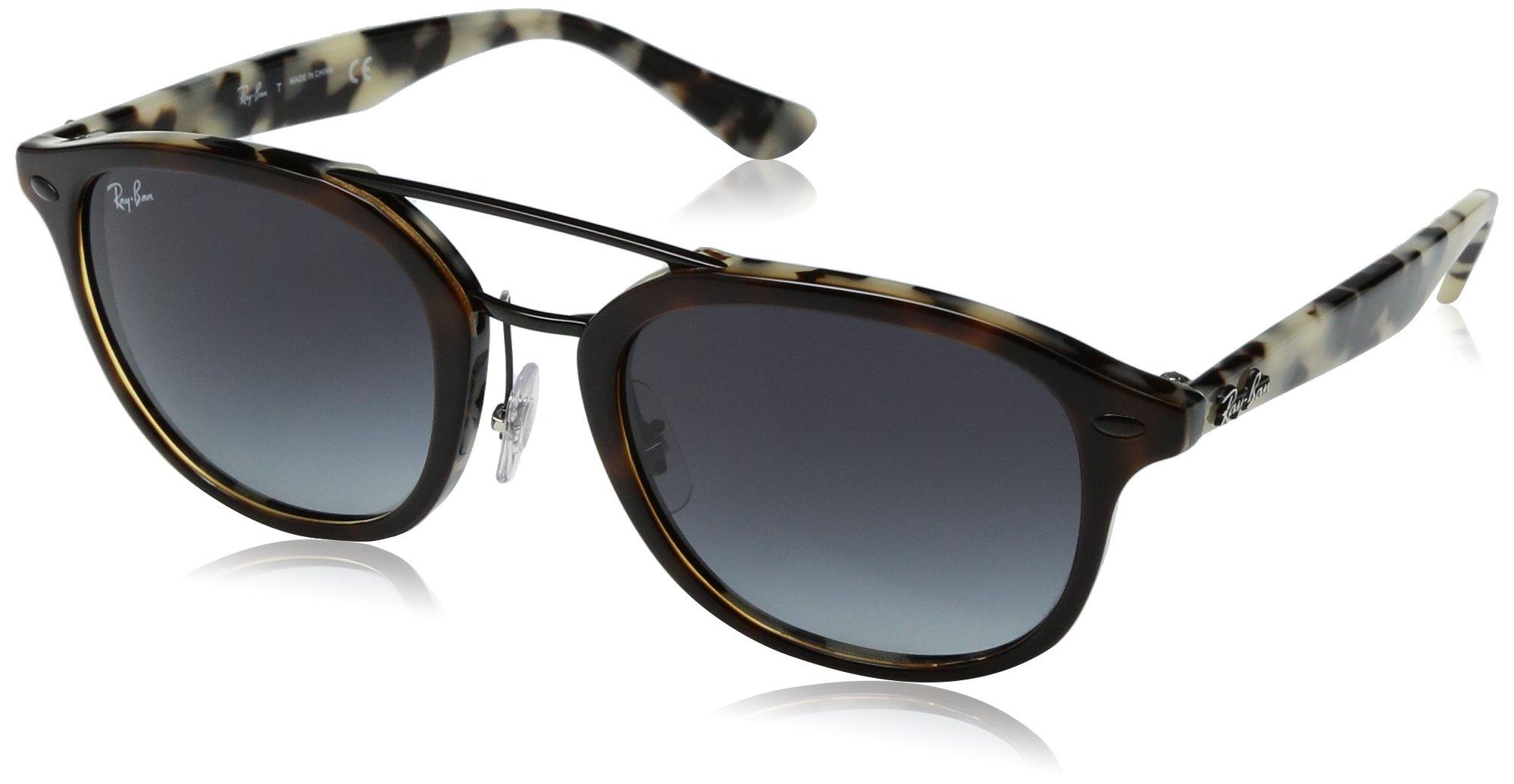 Ray-Ban RB2183 Square Sunglasses, Tortoise & Tortoise Beige/Grey Gradient, 53 mm
