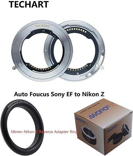 apertura elettronica integrata per obiettivi Sony FE su fotocamere mirrorless Nikon Z6 Z7 Adattatore per autofocus ad alta velocit/à EWOOP TZE-01 Techart