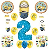 Balloons Despicable Me Minions #2 Second Birthday Bouquet