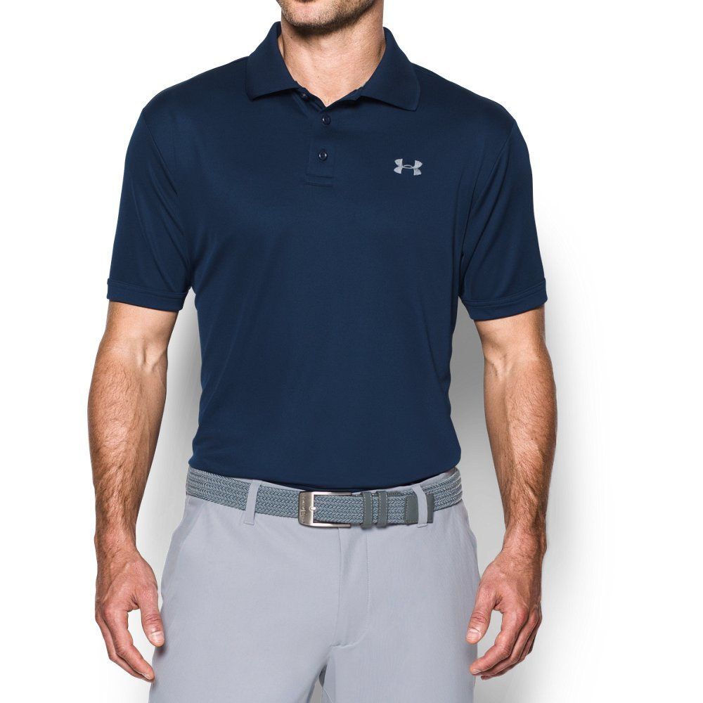 Under Armour Men's Performance Polo, Academy (408)/Steel, Small