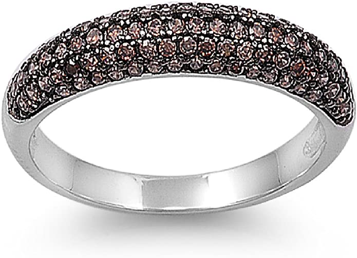 Princess Kylie 925 Sterling Silver Classic Round Band Ring