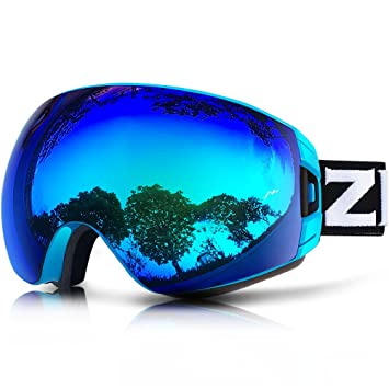 snowboarding glasses  Amazon.com : ZIONOR Lagopus X7 Ski Snowboard Goggles with Quick ...
