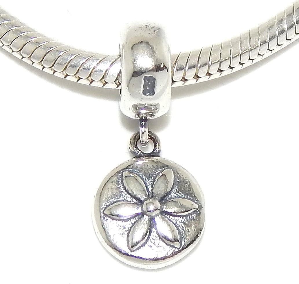 925 Sterling Silver Dangling Flower Charm Bead