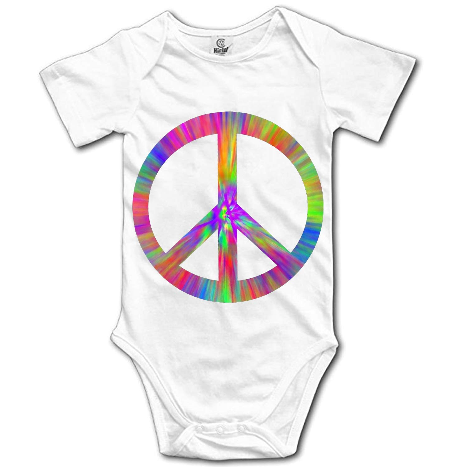Baby Girl Summer Clothes Love and Peace Bus Short Sleeve One-Piece Suit Romper Home Outfit