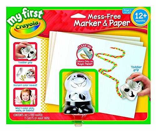 (Crayola My First Mess Free Coloring, No Mess Marker and Paper Set, Gift for Toddlers)
