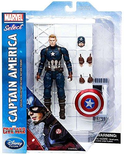 Captain America: Civil War Marvel Select Captain America Exclusive Action Figure [Civil War]