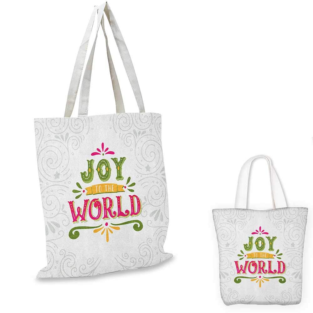 16x18-13 Joy canvas messenger bag Inspirational Joy to the World Quote with Abstract Stains Swirled Lines Ornamental canvas beach bag Black White