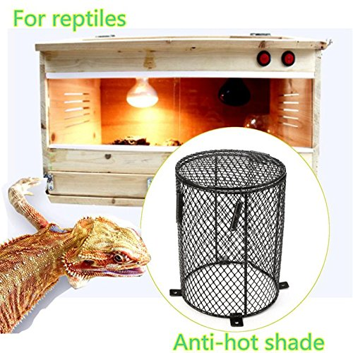 Reptile Heat Mesh Cage Protector Guard Lamp Light Bulb Enclosure 13x16.5cm Round Terrarium Spiders Ants Scorpions - Scorpion Bulbs