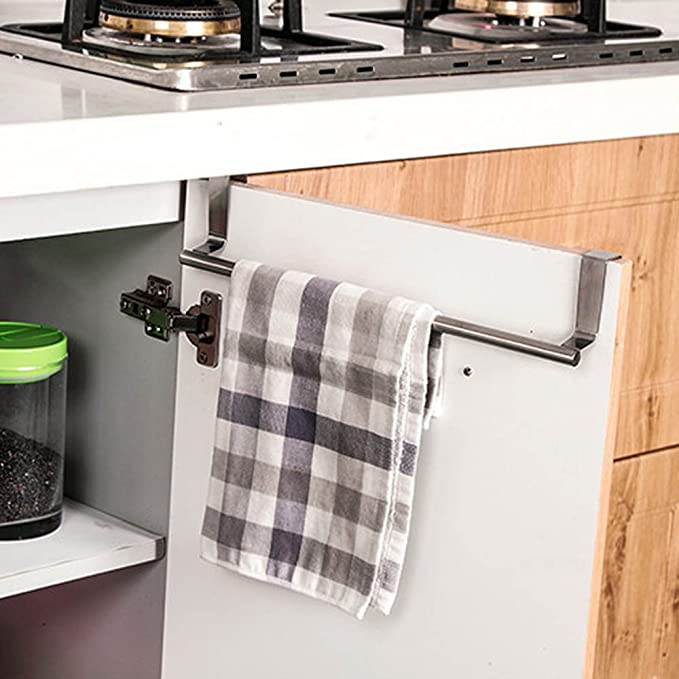 Colgador para cocina y baño de Mmtop, para colocar encima de la puerta, en armarios, estantes y puertas de armario, para toallas y paños: Amazon.es: Hogar