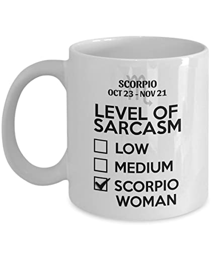 Amazoncom Sthstore Level Of Sarcasm Low Medium Scorpio