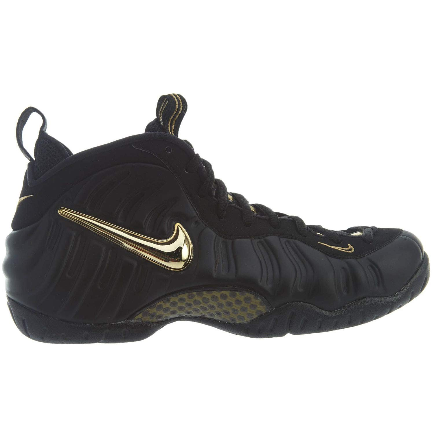 sale retailer dea58 25d6f Amazon.com   Nike Men s Air Foamposite PRO  Black Metallic Gold  624041-009  (Size  13)   Basketball