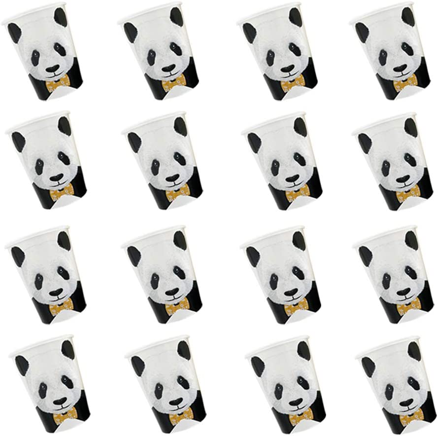 Birthday Decorations Tableware for Kids Panda Party Supplies Set Including Plates, Napkins, Cups