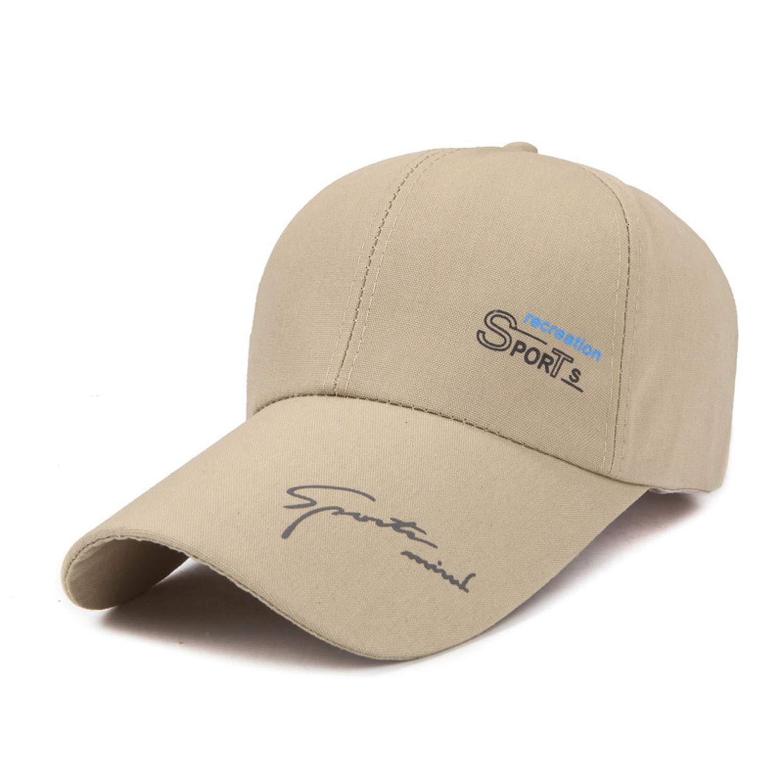Letter Men Baseball Cap Large Brim Cool Male Sun Hat Sports Breathable Caps Long Brim Thin Adjustable