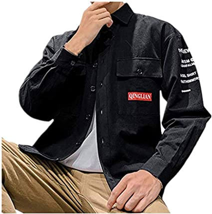 ZODOF camisa hombre camisas sport Nuevo Casual Comodo Moda Bolsillo Ropa de trabajo Carta Impresión Solapa Manga larga Blouse Moda para hombre camisa guapa camisa hombre(XXXL,Negro): Amazon.es: Instrumentos musicales