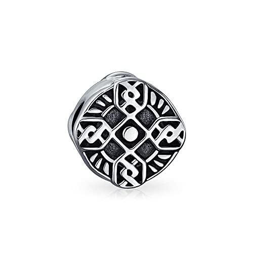 98fba61f7 Image Unavailable. Image not available for. Color: Religious Celtic Trinity  Cross Irish Viking Love Knot Charm Bead For Women 925 Sterling Silver Fits