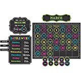 Teacher Created Resources Chalkboard Brights Calendar Bulletin Board (5615)