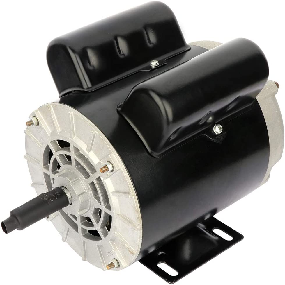 """ECCPP 2 SPL HP Single Phase Air Compressor Electric Motor 56 Frame 60 HZ Frequency 3450 RPM 15.0A / 7.5A 5/8"""" Keyed shaft"""