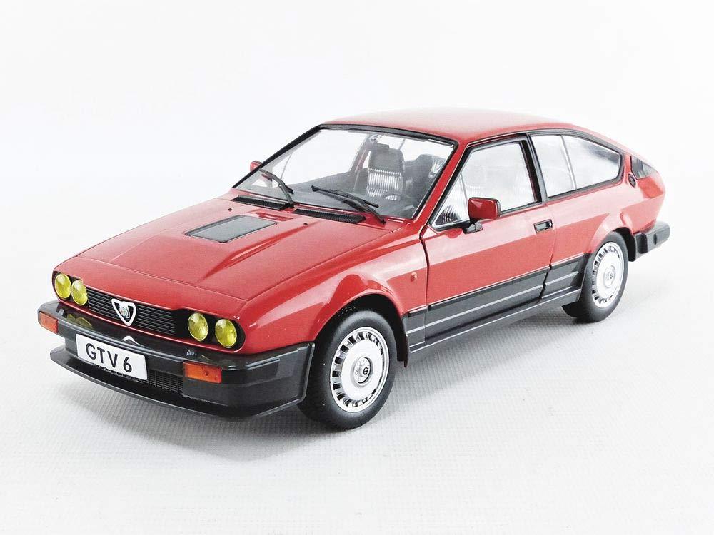 1984 Modellfahrzeug Solido S1802301 421184800-1:18 Alfa GTV6 Modellauto rot