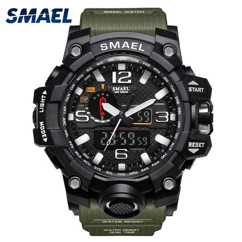 Military Waterproof Sport Watch (Army Green) by SMAEL