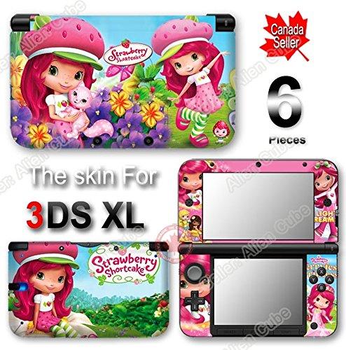 Nintendo Ds Strawberry (Strawberry Shortcake NEW SKIN 2012 VINYL STICKER DECAL COVER for Original Nintendo 3DS XL)