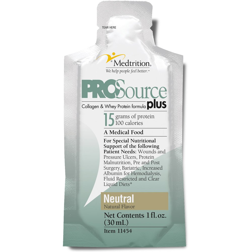 Medtrition Plus Neutral Packets: Concentrated Liquid Protein. 15 Grams of Protein per 1 fl. oz. (100 Pack) by Medtrition
