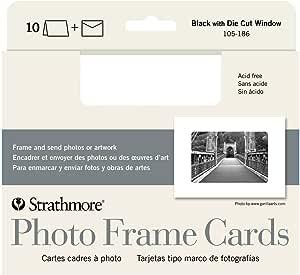 STRATHMORE 105-186 ST PHOTO FRAME CARDS 10-PACK BLACK