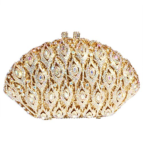 Bags women Evening Crystal Purses Gold Big Clutch Digabi Wings Rhinestone xXq8n1I