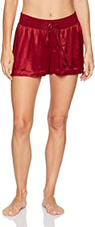 product image for PJ Harlow Women's Mikel Satin Boxer Short with Draw String - PJSB5 (XL, Red)