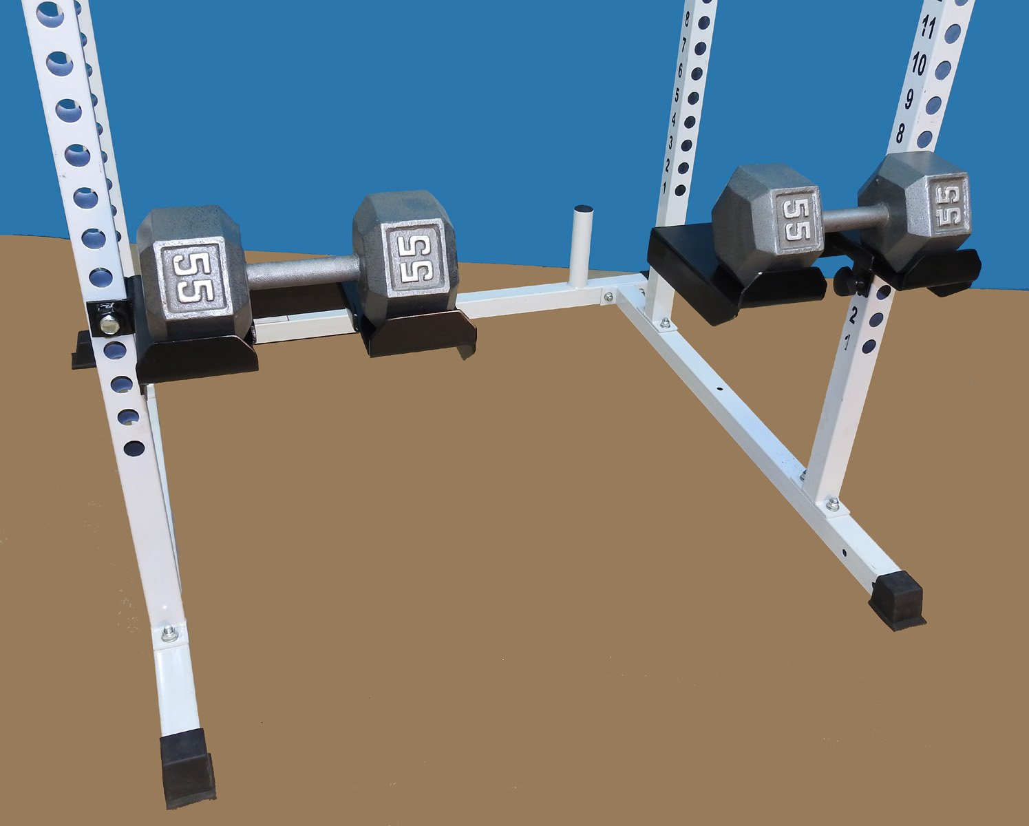 TDS Dumbell & Barbell Tray Attachment for Power Squat Racks