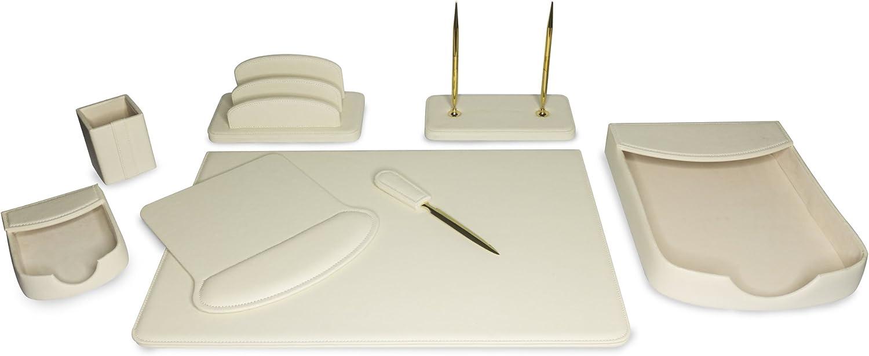 Majestic Goods Organizer, Executive Office Desk Organizer, Beige (W1053)