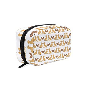 3a8e185aea Amazon.com   Fashion Square Cosmetic Bag Dog Lover Toiletry Bag  Multifunction Storage Portable Travel Bag For Women   Beauty