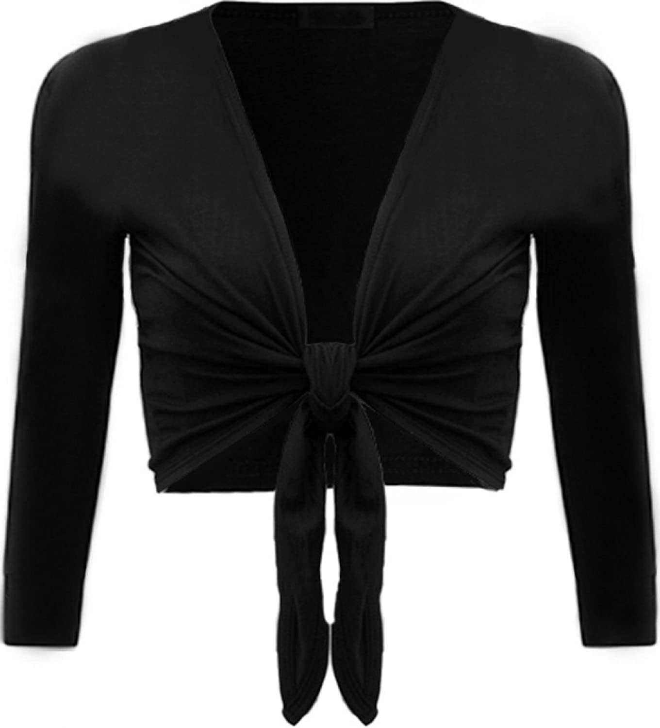 Chocolate Pickle Womens Tie up Long Sleeve Bolero Shrug Club Wear ...