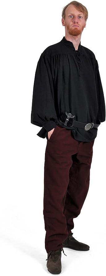 /XXXL Lie de vin 4530 Pantalon de pirates du Moyen-/Âge tailles S/ style gothique