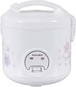 Tayama Automatic Rice Cooker & Food Steamer 10 Cup, White (TRC-10R)