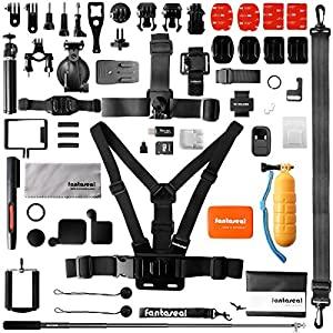 Ultimate 50in1 Combo for GoPro Accessories Kit Pack GoPro Mounts Bundle Set Starter Suit w/Hi Capacity Dual-Layer Waterproof Anti-impact Hand Bag for GoPro Hero 6 5 4 3+ 3 Session Sony Yi AKASO -13""