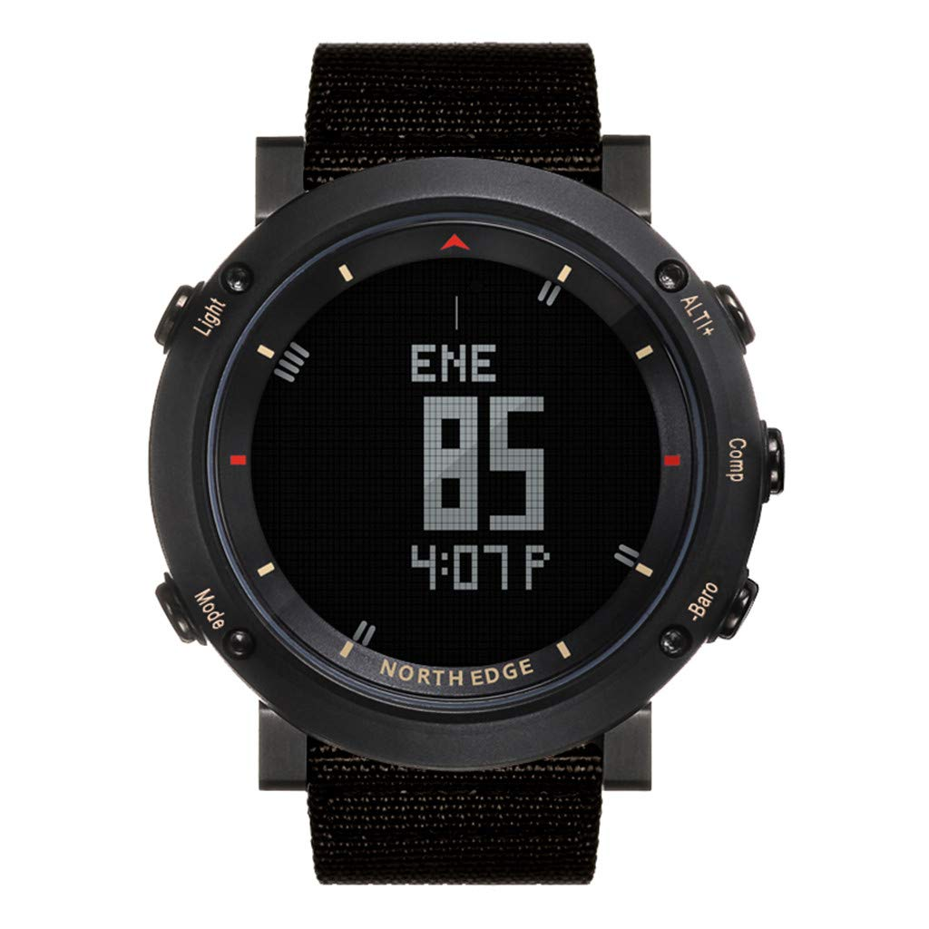 NDGDA ☼ Outdoor Watch North Edge Altay Sports Smart Compass Wrist Back Light for Fishing Hiking