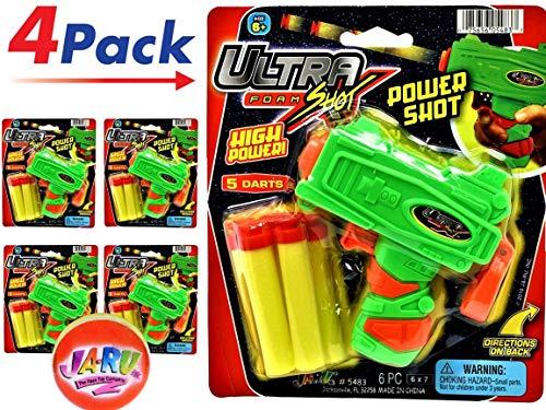 JA-RU Ultra Foam Shot Gun (Pack of 4) and 1 Bouncy Ball Bundle Super Powerful Shotgun | Item #5483-4sl ()